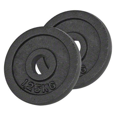 Sport-Tec Hantelscheibe aus Gußeisen, 1,25 kg, Paar 30101
