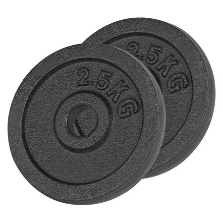 Sport-Tec Hantelscheibe aus Gußeisen, 2,5 kg, Paar 30102