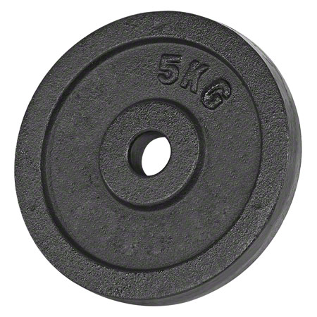 Sport-Tec Hantelscheibe aus Gußeisen, 5 kg, Stück 30103