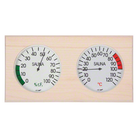 Sauna-Klimastation inkl. Thermometer und Hygrometer, 29,5 x 15,5 cm 31537