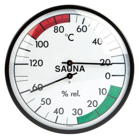 Sauna-Klimamesser inkl. Thermometer und Hygrometer, ř 13,5 cm 31538