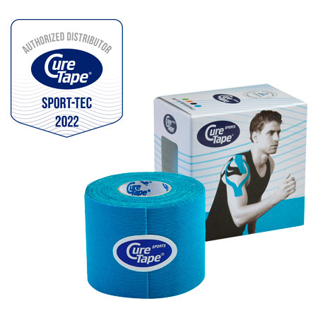 Cure Tape Sports, 5 m x 5 cm, wasserfest, blau