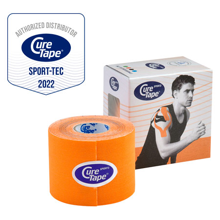 Cure Tape Sports, 5 m x 5 cm, wasserfest, orange