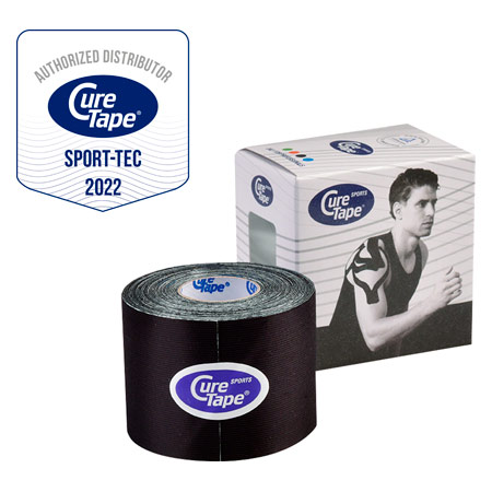 Cure Tape Sports, 5 m x 5 cm, wasserfest, schwarz