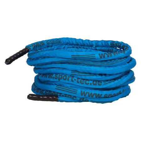 Fitness Tau Battle Rope ummantelt, blau, 15-30 m, ø 3 cm