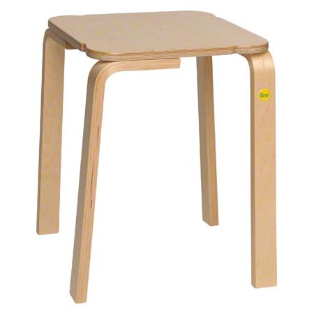 Hocker 48 aus Formholz, 36x36 cm, Sitzhöhe 48 cm