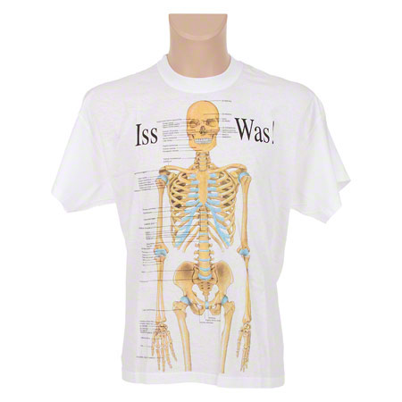 T-Shirt Skelett, Gr. XXL - Sport-Tec.de: Anatomische T-Shirts Shop