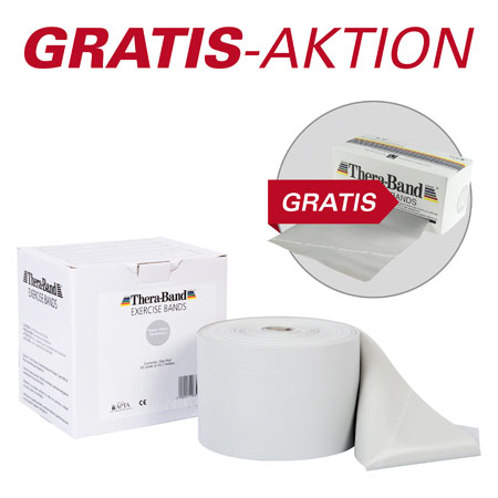 Thera-Band, Aktion: 45,5 m Rolle, super stark, silber + 5,5 m Rolle, super stark, silber GRATIS