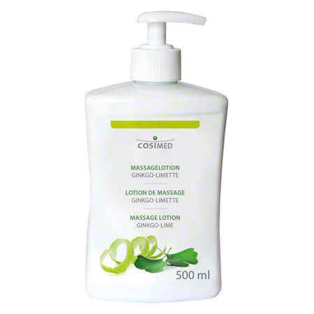 cosiMed Massagelotion Ginkgo-Limette mit Druckspender, 500 ml