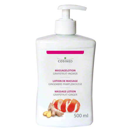 cosiMed Massagelotion Grapefruit- Ingwer mit Druckspender, 500 ml