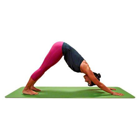CALYANA Prime, Yoga Matte, LxBxH 185x66x0,45 cm, limonengrün/nussbraun 03038